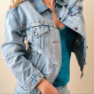 NWT Levi's Baggy Trucker Embellished Denim Jacket